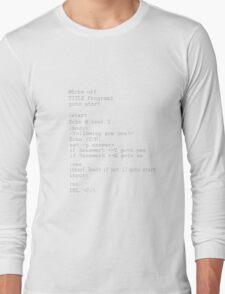 Coding Themed Tee Long Sleeve T-Shirt