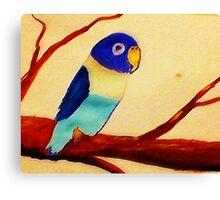 Love bird, watercolor Canvas Print