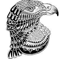 Zentangle eagle portrait. Photographic Print