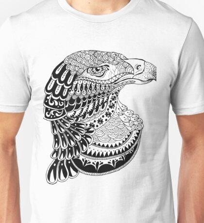 Zentangle eagle portrait. Unisex T-Shirt