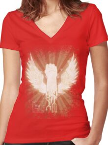 T is for Transhumanism Women's Fitted V-Neck T-Shirt