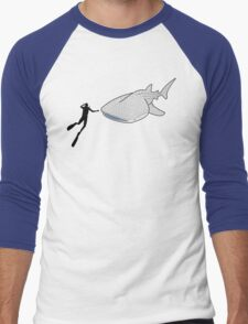 Whale Shark Men's Baseball ¾ T-Shirt
