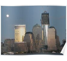 Lower Manhattan, New World Trade Center at Dusk, View from Jersey City   Poster