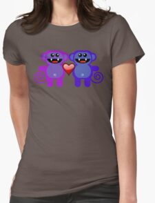 MUNKEY LOVE Womens Fitted T-Shirt