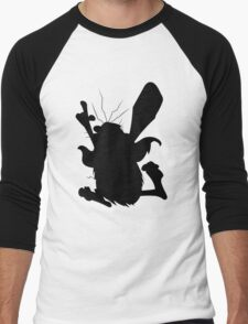Captain Caveman Silhouette Men's Baseball ¾ T-Shirt