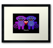 MUNKEY LOVE Framed Print