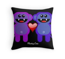 MUNKEY LOVE Throw Pillow