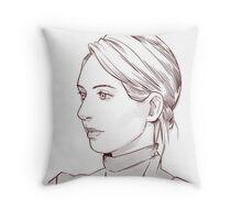 Elizabeth Holmes of Theranos Throw Pillow