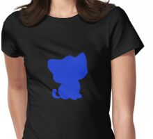 BeBe Kitty in blue Womens Fitted T-Shirt