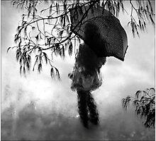 woman in the rain II Photographic Print
