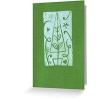 Amity Slockee's 'Green Christmas Tree' Greeting Card