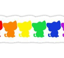 Rainbow BeBe Kitty! Sticker