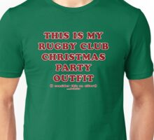 Rugby Club - Christmas - Red on Green Unisex T-Shirt