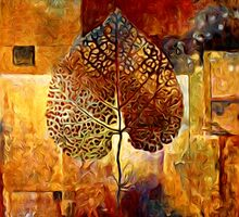 Abstract Leaf Oil Painting #1 by Fred Seghetti