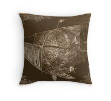 Sabicu Engraving Throw Pillow