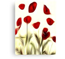 Abstract Flowers Oil Painting #3 Canvas Print