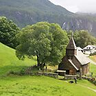 Hayangerfford church, Haulhous wooden church, originally medieval near Bergen Norway.  by Grace Johnson