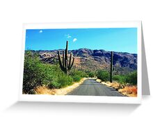 Landscape Saguaro  Greeting Card