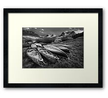 Boats At Trappers Lake Framed Print