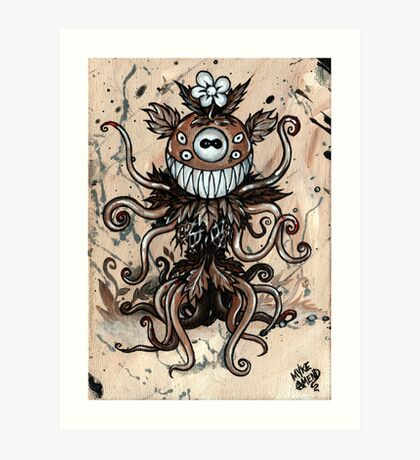 Smiley Plant Art Print