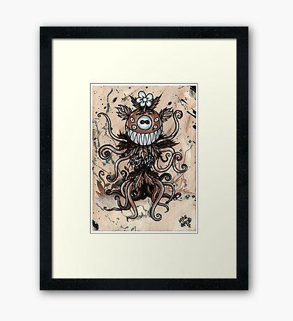 Smiley Plant Framed Print