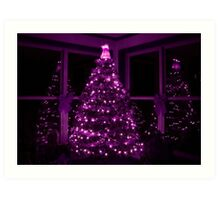 PURPLE CHRISTMAS Art Print