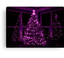 PURPLE CHRISTMAS Canvas Print