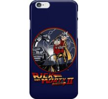 rick and morty back to the future  iPhone Case/Skin