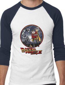 rick and morty back to the future  Men's Baseball ¾ T-Shirt