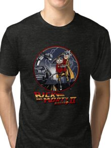 rick and morty back to the future  Tri-blend T-Shirt