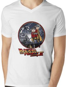 rick and morty back to the future  Mens V-Neck T-Shirt