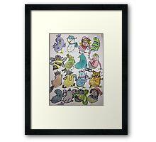 Kidney Doodles  Framed Print