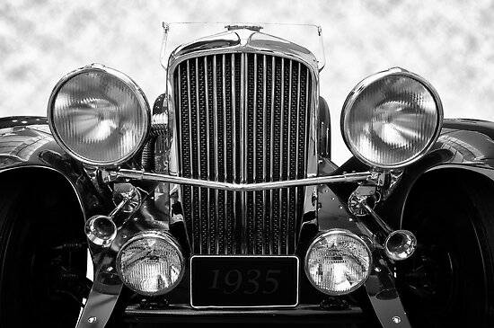 1935 Duesenberg in Black and White by Kurt Golgart