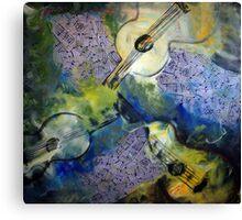 Guitar Trilogy Canvas Print