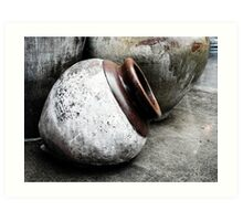 Roly-Poly Pottery Art Print