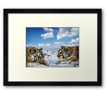 tigers and ducks ! oh my! Framed Print