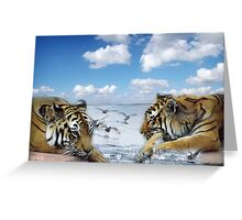 tigers and ducks ! oh my! Greeting Card
