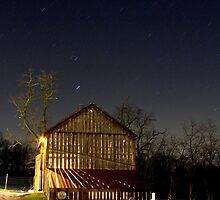 Rustic Barn on a Starry Night by Mark Van Scyoc