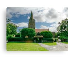 St. Bartholomew Thurstaston Wirral Cheshire Canvas Print