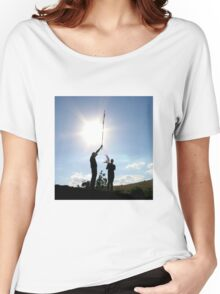 Tabgha - cross held by young men Women's Relaxed Fit T-Shirt