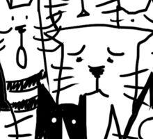 Cats doodle Sticker