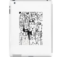 Cats doodle iPad Case/Skin