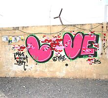 Love - graffiti in Golan Heights by Jeff Hobbs