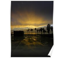 Venice sunset after the rain Poster