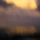 Rain on the Ocean at Sunset by Henry Murray