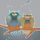 two owls by demonique