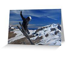 Ski Jumper Greeting Card