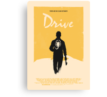 Drive (2011) Custom Poster Variant  Canvas Print