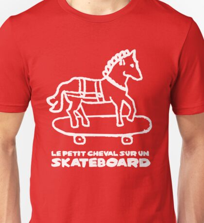The Little Horse on a Skateboard Unisex T-Shirt