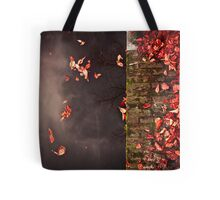 Red leaves and water Tote Bag